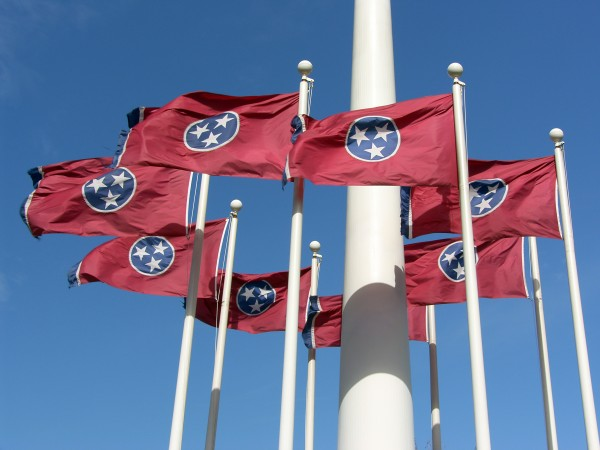 Group of Tennessee State Flags